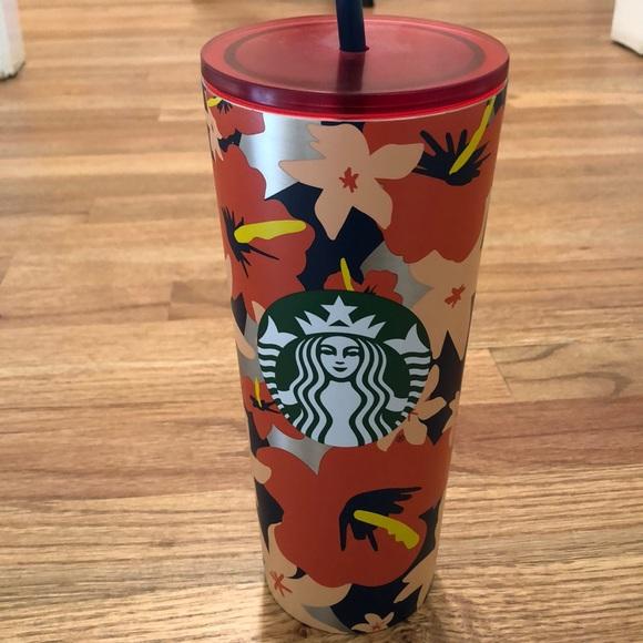 Starbucks 24oz Metal Floral Cup New Tags